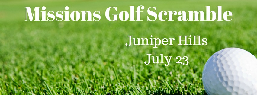 Join us July 23 at Juniper Hill for our 9th annual golf scramble benefitting mission trip scholarships.