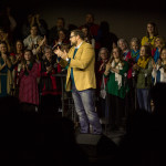 Adam Bishop leads in applause to all Buck Run's great musicians