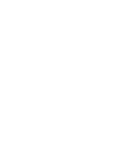Buck Run circular logo in white.