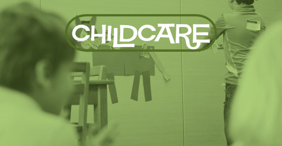 Childcare is offered weekly for kids 4 years old and younger. Registration required.