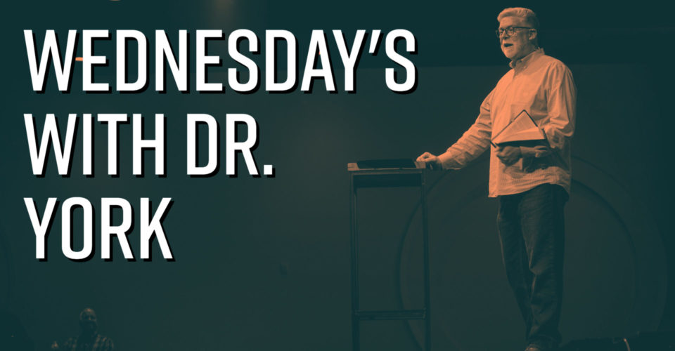 Join Dr. York in the sanctuary each Wednesday night at 6:30 pm beginning August 18 for a weekly Bible study.
